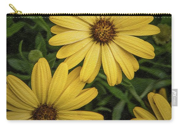Textured Floral Carry-all Pouch