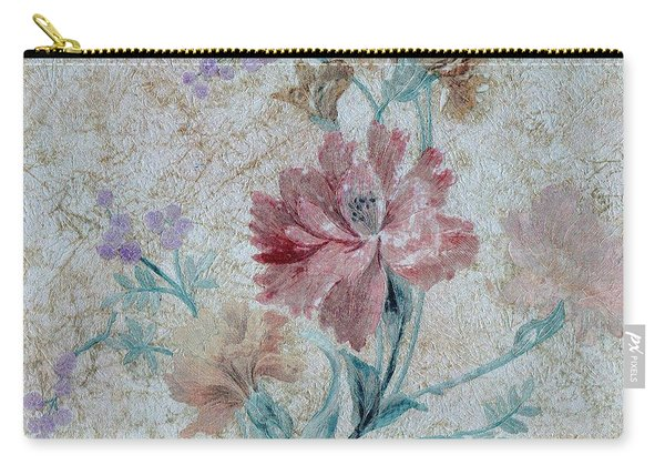 Textured Florals No.1 Carry-all Pouch