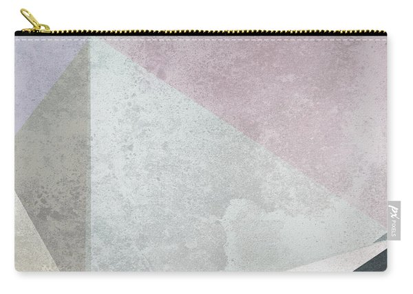 Textured Geometric Triangles Carry-all Pouch