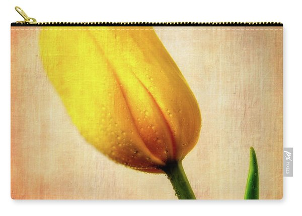 Textured Yellow Tulip Carry-all Pouch