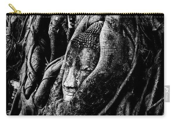 Thai Buddha Head Ayutthaya Carry-all Pouch