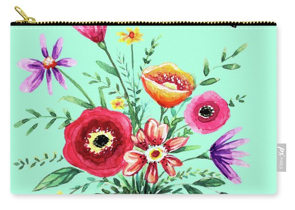 Thank You Bouquet Carry-all Pouch