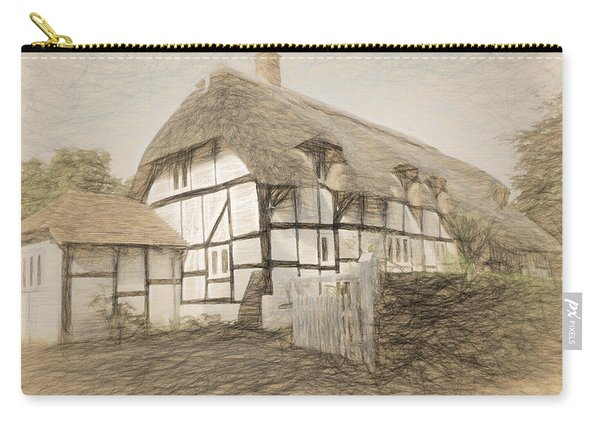 Thatched Cottage In Micheldever Carry-all Pouch