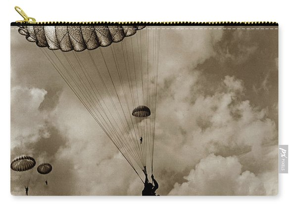 The 82nd Airborne  Hits The Silk Fort Ord 1953 Carry-all Pouch