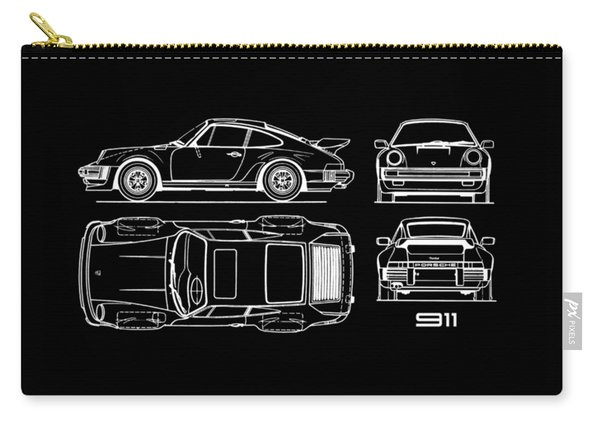 The 911 Turbo Blueprint Carry-all Pouch