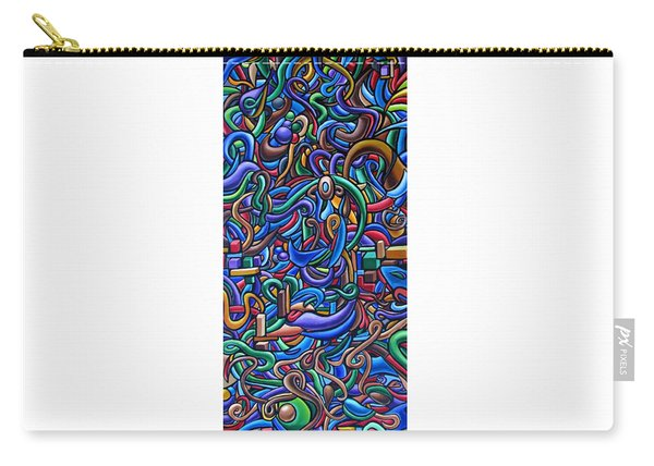 Colorful Abstract Art Abstract Painting Colorful Chromatic Acrylic Painting Carry-all Pouch