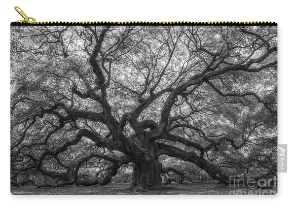 The Angel Oak Tree Bw  Carry-all Pouch