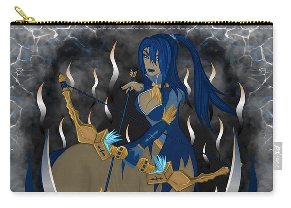 Carry-all Pouch featuring the painting The Archer Sagittarius Spirit by Raphael Lopez