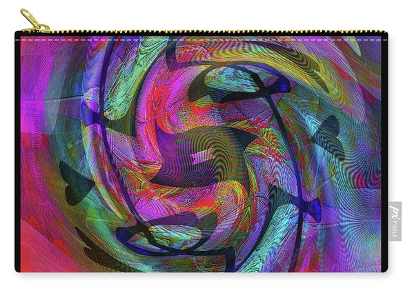 Carry-all Pouch featuring the digital art The Artist   Self Portrait by Visual Artist Frank Bonilla