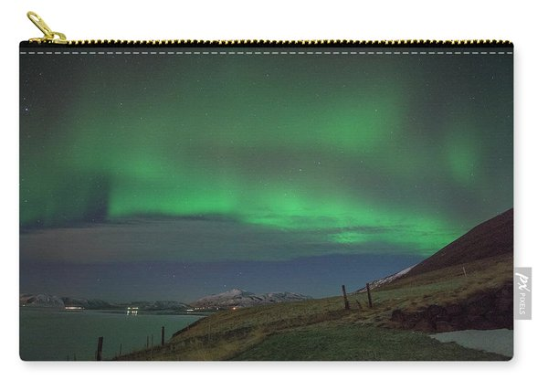 The Aurora Borealis Over Iceland Carry-all Pouch