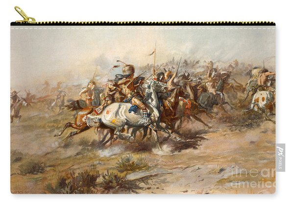 The Battle Of Little Bighorn Carry-all Pouch