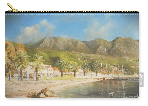 The Beach Of Ipsos Carry-all Pouch