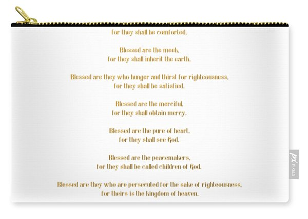 The Beatitudes Gospel Of Matthew Carry-all Pouch