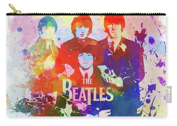 The Beatles Paint Splatter  Carry-all Pouch
