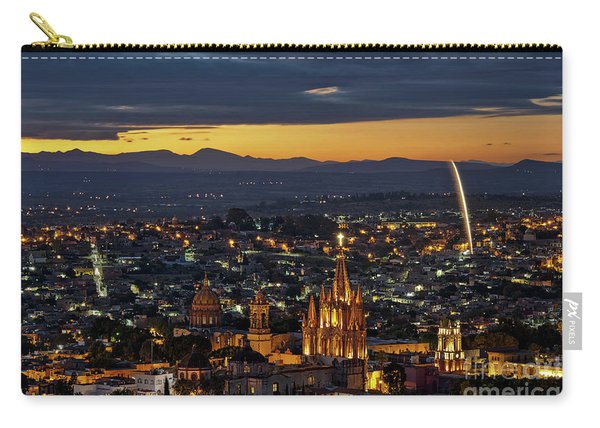 Carry-all Pouch featuring the photograph The Beautiful Spanish Colonial City Of San Miguel De Allende, Mexico by Sam Antonio Photography