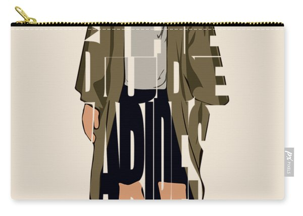 The Big Lebowski Inspired The Dude Typography Artwork Carry-all Pouch