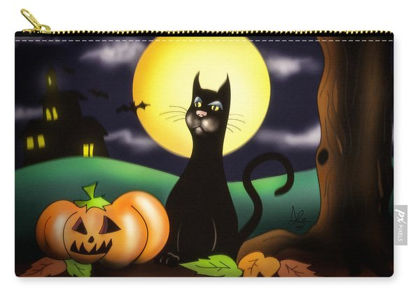The Black Cat Carry-all Pouch