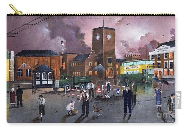 Dudley Trolley Bus Terminus 1950's Carry-all Pouch