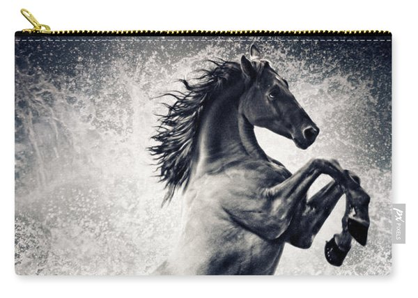 The Black Stallion Arabian Horse Reared Up Carry-all Pouch