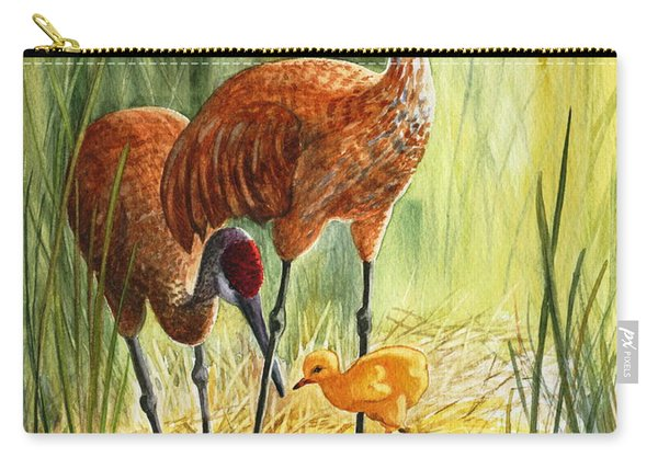 The Blessed Event - Sandhill Cranes Carry-all Pouch