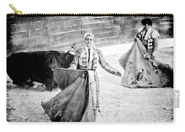 The Blond, The Bull And The Coup De Gras Bullfight Carry-all Pouch