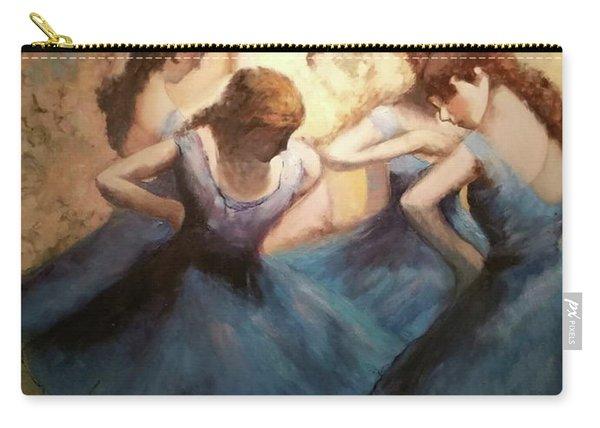 The Blue Ballerinas - A Edgar Degas Artwork Adaptation Carry-all Pouch