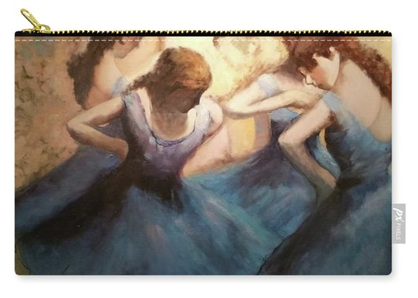 The Blue Ballerinas - A Edgar Degas Artwork Adaptation Carry-all Pouch