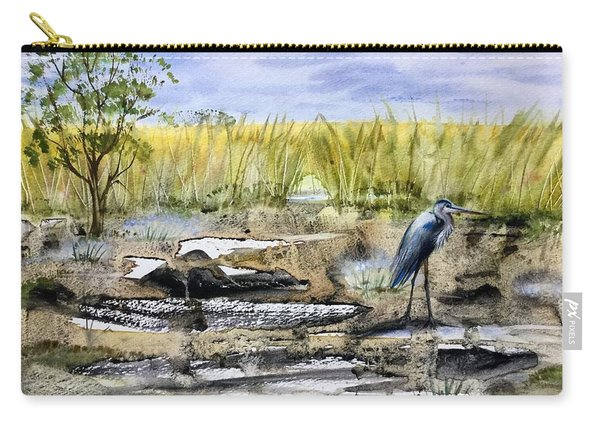 The Blue Egret Carry-all Pouch