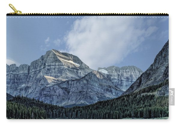The Blue Mountains Of Glacier National Park Carry-all Pouch