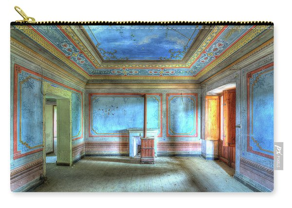 The Blue Room Of The Villa With The Colored Rooms Carry-all Pouch