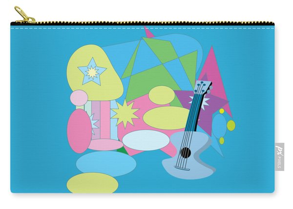 Carry-all Pouch featuring the digital art The Blues by Eleni Mac Synodinos