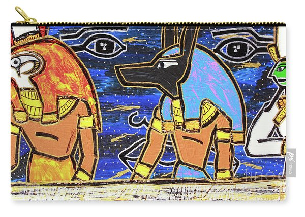 The Boat Of Ausar Passing Through The Underworld Carry-all Pouch