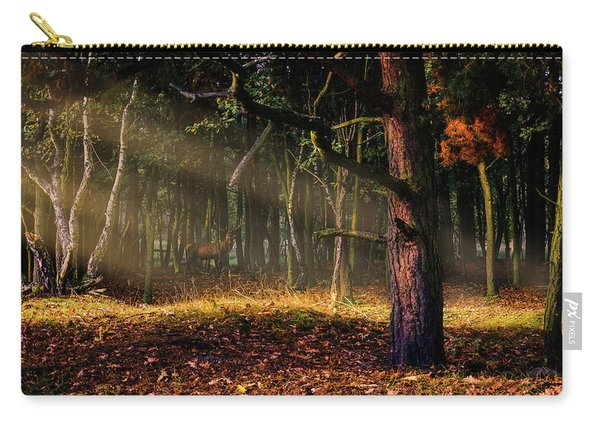 Carry-all Pouch featuring the photograph The Border by Dmytro Korol