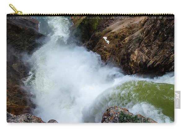 The Brink Of The Lower Falls Of The Yellowstone River Carry-all Pouch