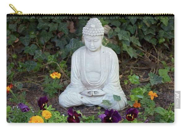 Carry-all Pouch featuring the pyrography The Calm by Michael Lucarelli