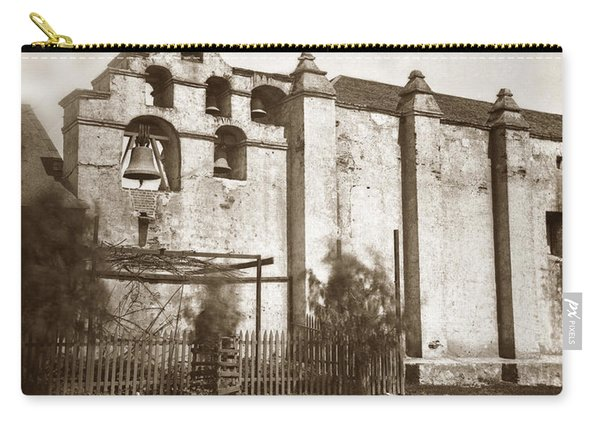 The Campanario, Or Bell Tower Of San Gabriel Mission Circa 1880 Carry-all Pouch