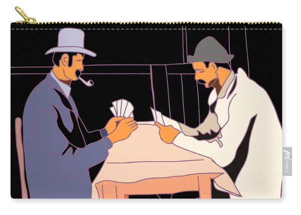The Card Players Carry-all Pouch