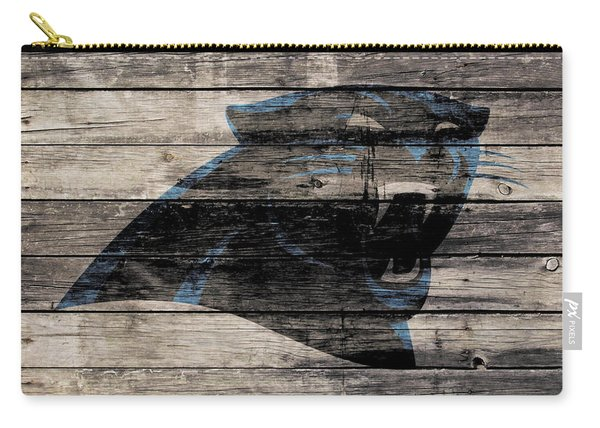 The Carolina Panthers Wood Art Carry-all Pouch