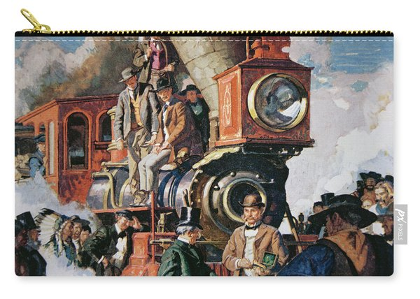 The Ceremony Of The Golden Spike On 10th May Carry-all Pouch