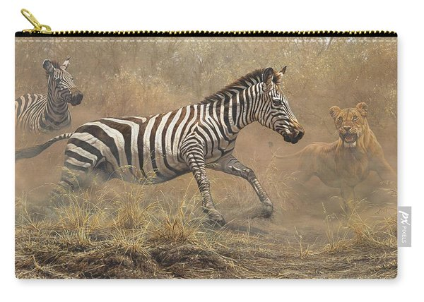 Carry-all Pouch featuring the painting The Chase by Alan M Hunt