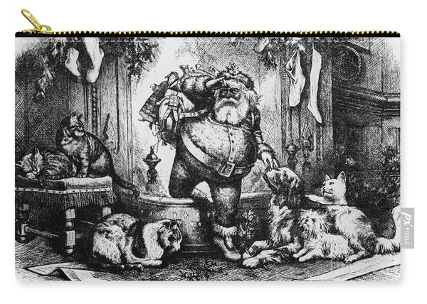 The Coming Of Santa Claus Carry-all Pouch