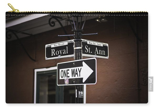 The Corner Of Royal And St. Ann, New Orleans, Louisiana Carry-all Pouch