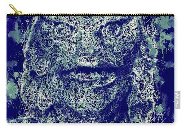 Carry-all Pouch featuring the mixed media Creature From The Black Lagoon by Al Matra