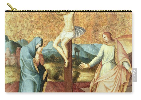 The Crucifixion With The Virgin And St John The Evangelist Carry-all Pouch