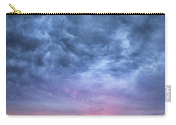 The Dark Sunset At Cholla Cactus Garden  Carry-all Pouch