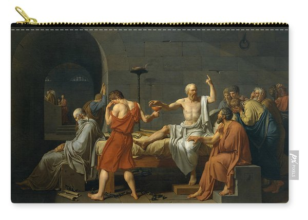 The Death Of Socrates, 1787 Carry-all Pouch
