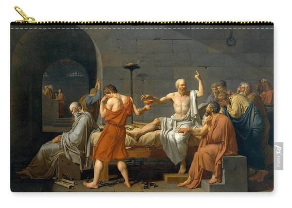 The Death Of Socrates - Jacques-louis David  Carry-all Pouch