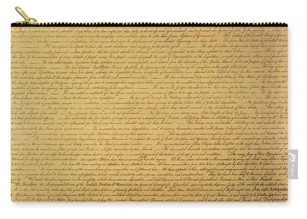 The Declaration Of Independence Carry-all Pouch