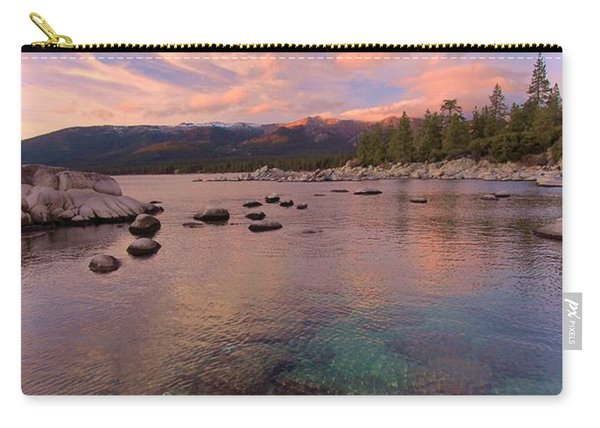 Carry-all Pouch featuring the photograph   The Depths Of Sundown by Sean Sarsfield