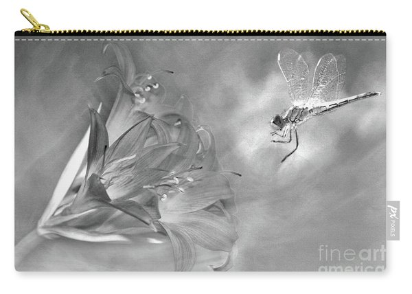 The Dragonfly And The Flower Carry-all Pouch